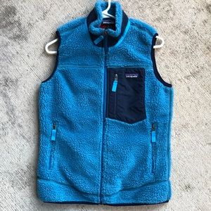Patagonia Retro X Vest Small Blue Red Fleece